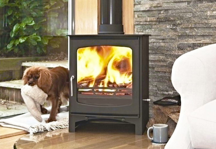 Ecosy Defra approved Purefire Curve 10 Wood Burning Stove
