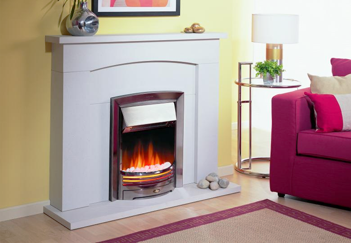 Dimplex Adagio Chrome Optiflame Electric Inset Fire