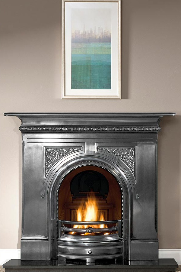 Gallery Pembroke 48 full-polished combination fireplace, solid fuel