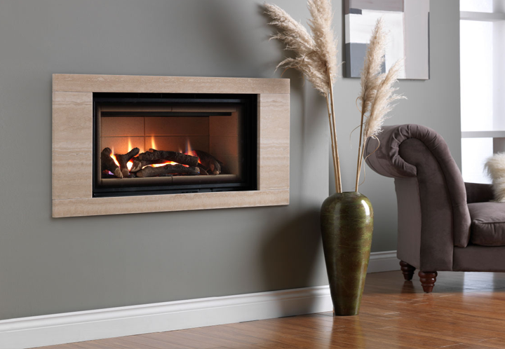 Legend Ethos 750 Landscape Hole in the wall Gas Fire